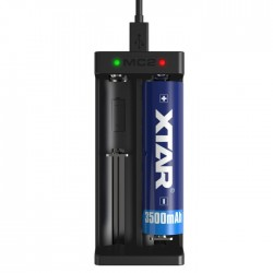Xtar MC2 Double Slots Battery Charger for Home Use - Black