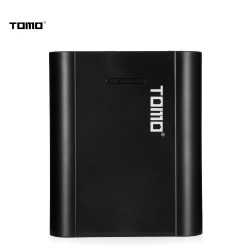 TOMO P4 Power Bank Dual USB Charger Case for 18650 Li-ion Battery - Black