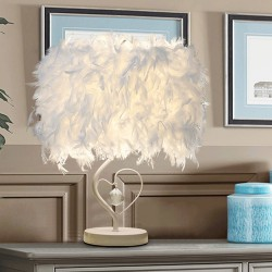 Loving Feather Decorative Eye Protector Lamp - White