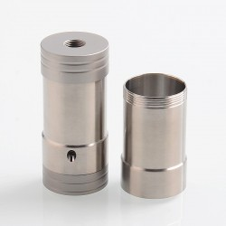 Vapeasy Corinne Style Hybrid Mechanical Tube Mod - Silver, 316 Stainless Steel, 1 x 18350 / 18650