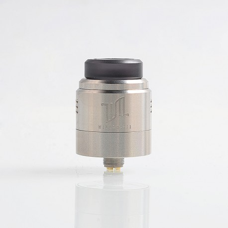 Authentic Vandy Vape Widowmaker RDA Rebuildable Dripping Atomizer w/ BF Pin - Silver, Stainless Steel, 24mm Diameter