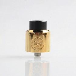 Authentic Asmodus .Blank RDA Rebuildable Dripping Atomizer w/ BF Pin - Gold, Stainless Steel, 24mm Diameter