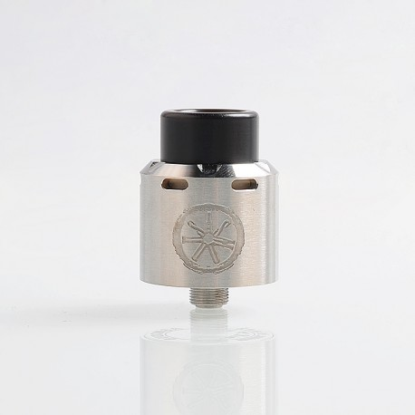 Authentic Asmodus .Blank RDA Rebuildable Dripping Atomizer w/ BF Pin - Silver, Stainless Steel, 24mm Diameter