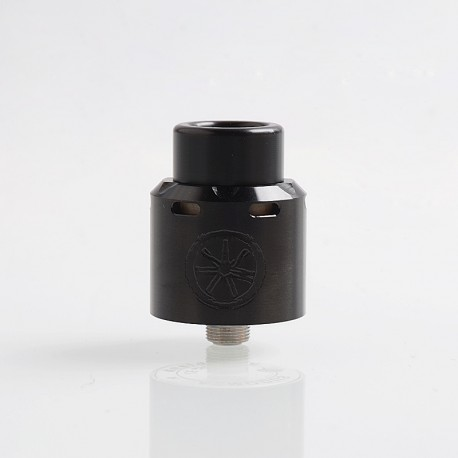 Authentic Asmodus .Blank RDA Rebuildable Dripping Atomizer w/ BF Pin - Black, Stainless Steel, 24mm Diameter