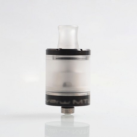 SteamTuners Top Refill Dvarw V2 Style MTL RTA Rebuildable Tank Atomizer - Black, 316 Stainless Steel, 2ml, 22mm Diameter