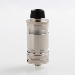 Typhoon GT4 Style RTA Rebuildable Tank Atomizer - Silver, 316 Stainless Steel, 5ml, 26mm Diameter