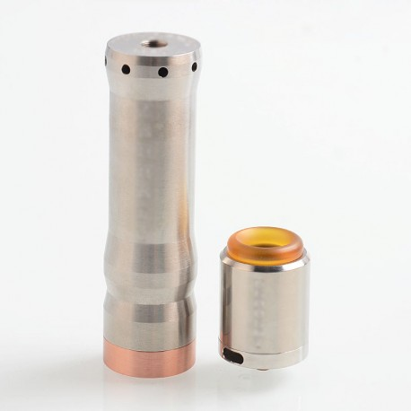Kennedy Vindicator Style Hybrid Mechanical Mod + Kennedy 25 Style RDA Kit - Silver, Stainless Steel, 1 x 18650 / 20700 / 21700