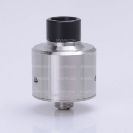 ShenRay Hadaly Style RDA Rebuildable Dripping Atomizer w/ Bottom Feeder Pin - Silver, 316 Stainless Steel, 22mm Diameter