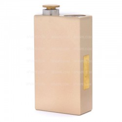 Dimitri Style Mechanical Box Mod - Golden, Aluminum Alloy, 2 x 18650