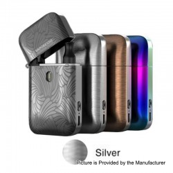 Authentic Vaporesso Aurora Play Lighter 20W 650mAh Pod System Starter Kit - Silver, 2ml, 1.3 / 0.65 Ohm