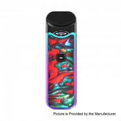 Authentic SMOKTech SMOK Nord 15W 1100mAh Pod System Starter Kit - IML 7-Color Resin Streak, 1.4 Ohm / 0.6 Ohm, 3ml