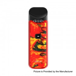 Authentic SMOKTech SMOK Nord 15W 1100mAh Pod System Starter Kit - Red Yellow Resin, 1.4 Ohm / 0.6 Ohm, 3ml
