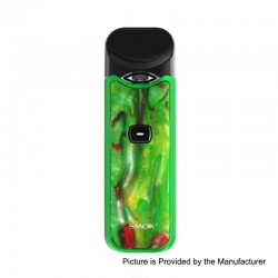 Authentic SMOKTech SMOK Nord 15W 1100mAh Pod System Starter Kit - Green Red Resin, 1.4 Ohm / 0.6 Ohm, 3ml