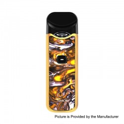 Authentic SMOKTech SMOK Nord 15W 1100mAh Pod System Starter Kit - Yellow Purple Resin, 1.4 Ohm / 0.6 Ohm, 3ml