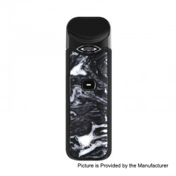 Authentic SMOKTech SMOK Nord 15W 1100mAh Pod System Starter Kit - Black White Resin, 1.4 Ohm / 0.6 Ohm, 3ml