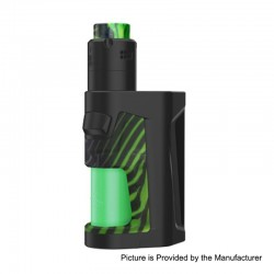 Authentic Vandy Vape Pulse Dual 220W TC VW Squonk Box Mod + Pulse V2 RDA Kit - Stripy Green, 5~220W, 7ml, 2 x 18650, 24mm