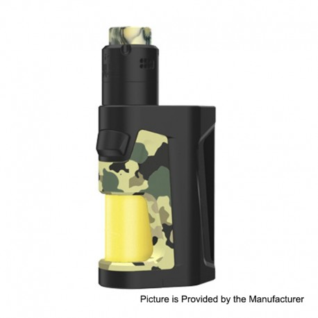 Authentic Vandy Vape Pulse Dual 220W TC VW Squonk Box Mod + Pulse V2 RDA Kit - Camouflage Yellow, 5~220W, 7ml, 2 x 18650, 24mm