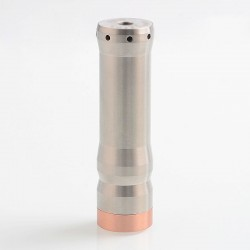 Vindicator Style Hybrid Mechanical Tube Mod - Silver, 316 Stainless Steel, 1 x 20700 / 21700