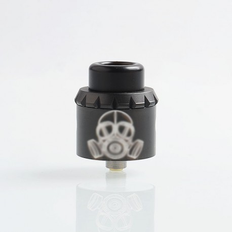 Apocalypse 25 Style RDA Rebuildable Dripping Atomizer w/ BF Pin - Black, Stainless Steel, 25mm Diameter