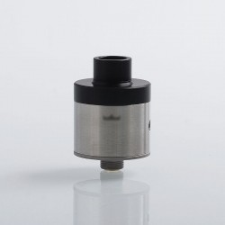 SXK Monarchy Monarch Style RDA Rebuildable Dripping Atomizer w/ BF Pin - Silver, 316 Stainless Steel, 22mm Diameter