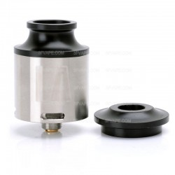 LA Style RDA Rebuildable Dripping Atomizer - Silver, Stainless Steel, 24mm Diameter