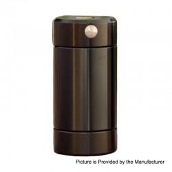 Authentic Cthulhu Tube Dual MOSFET Semi-Mechanical Mod - Black, 1 x 18350 / 18650, 24mm Diameter
