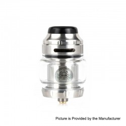 Authentic GeekVape Zeus X RTA Rebuildable Tank Atomizer - Silver, Stainless Steel, 4.5ml, 25mm Diameter