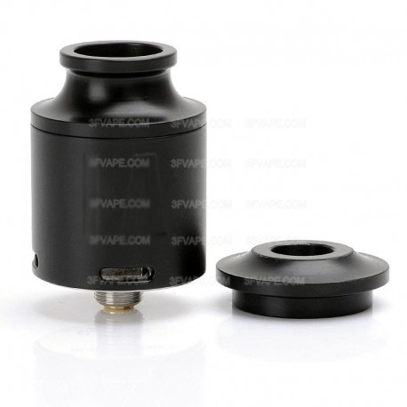 LA Style RDA Rebuildable Dripping Atomizer - Black, Stainless Steel, 24mm Diameter