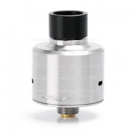 SXK Hadaly Style RDA Rebuildable Dripping Atomizer w/ Bottom Feeder Pin - Silver, Stainless Steel, 22mm Diameter