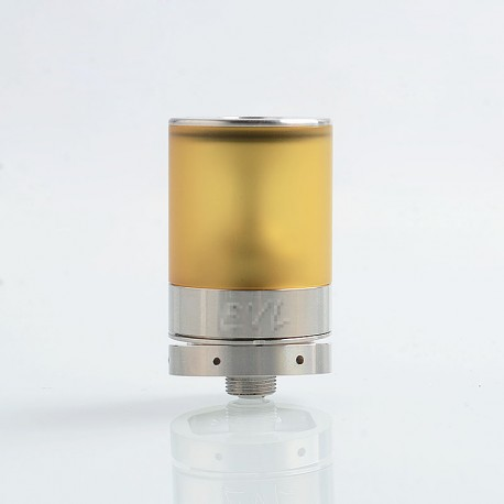 EVL Reaper V3 Style RTA Rebuildable Tank Atomizer - Silver, 316 Stainless Steel + PEI, 2ml, 22mm Diameter