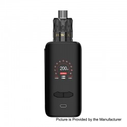 Authentic Augvape VX200 200W TC VV VW Box Mod + Jewel Disposable Mesh Tank Kit - Black, 5~200W, 2 x 18650, 3ml, 0.15 Ohm