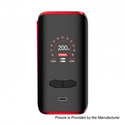 Authentic Augvape VX200 200W TC VV VW Variable Wattage Box Mod - Red, 5~200W, 2 x 18650