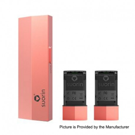 Authentic Suorin Edge 10W 230mAh Pod System Device w/ Dual Removable Batteries - Living Coral