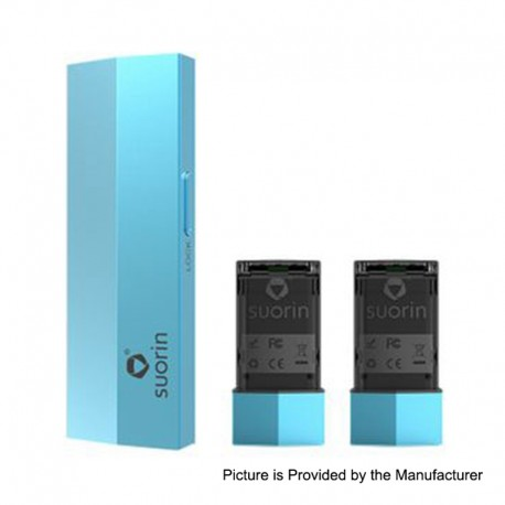 Authentic Suorin Edge 10W 230mAh Pod System Device w/ Dual Removable Batteries - Blue