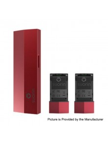 Authentic Suorin Edge 10W 230mAh Pod System Device w/ Dual Removable Batteries - Red