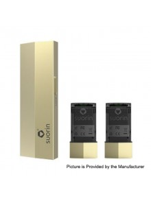 Authentic Suorin Edge 10W 230mAh Pod System Device w/ Dual Removable Batteries - Gold