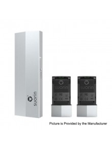Authentic Suorin Edge 10W 230mAh Pod System Device w/ Dual Removable Batteries - Silver