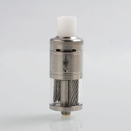 Stutt-Art Bogati Style RTA Rebuildable Tank Atomizer - Silver, 316 Stainless Steel, 5ml, 23mm Diameter