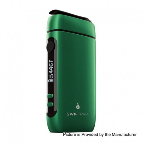 Authentic Flowermate Swift Pro 1000mAh Dry Herb Vaporizer Aroma Therapy Device - Green