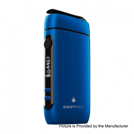 Authentic Flowermate Swift Pro 1000mAh Dry Herb Vaporizer Aroma Therapy Device - Blue