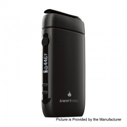 Authentic Flowermate Swift Pro 1000mAh Dry Herb Vaporizer Aroma Therapy Device - Black