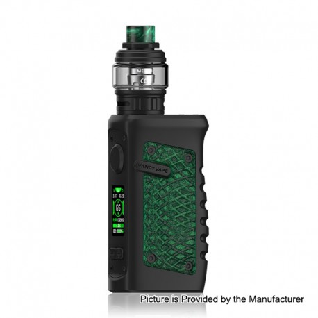 Authentic Vandy Vape Jackaroo 100W TC VW Box Mod + Jackaroo Tank Kit - Green Anaconda, 5~100W, 1 x 18650 / 20700 / 21700, 5ml