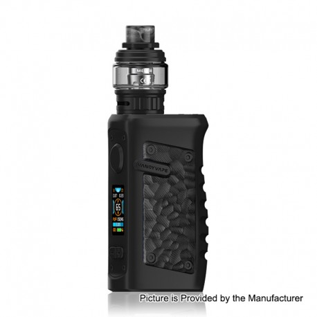 Authentic Vandy Vape Jackaroo 100W TC VW Box Mod + Jackaroo Tank Kit - Obsidian Black, 5~100W, 1 x 18650 / 20700 / 21700, 5ml