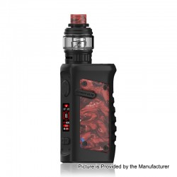 Authentic Vandy Vape Jackaroo 100W TC VW Box Mod + Jackaroo Tank Kit - Red Pomegranate, 5~100W, 1 x 18650 / 20700 / 21700, 5ml
