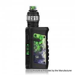 Authentic Vandy Vape Jackaroo 100W TC VW Box Mod + Jackaroo Tank Kit - Green Jade, 5~100W, 1 x 18650 / 20700 / 21700, 5ml