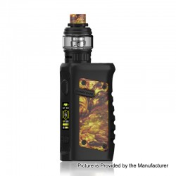 Authentic Vandy Vape Jackaroo 100W TC VW Box Mod + Jackaroo Tank Kit - Gold Agate, 5~100W, 1 x 18650 / 20700 / 21700, 5ml