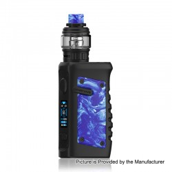 Authentic Vandy Vape Jackaroo 100W TC VW Box Mod + Jackaroo Tank Kit - Blue Porcelain, 5~100W, 1 x 18650 / 20700 / 21700, 5ml