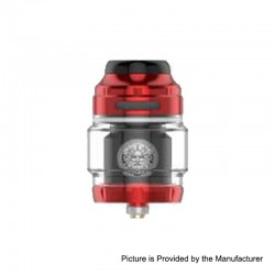 Authentic GeekVape Zeus X RTA Rebuildable Tank Atomizer - Red, Stainless Steel, 4.5ml, 25mm Diameter