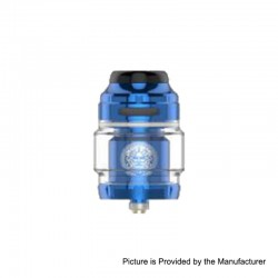 Authentic GeekVape Zeus X RTA Rebuildable Tank Atomizer - Blue, Stainless Steel, 4.5ml, 25mm Diameter