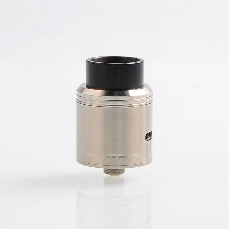 Vapeasy 1:1 Kryten Style RDA Rebuildable Dripping Atomizer w/ BF Pin - Silver, 316 Stainless Steel, 24mm Diameter